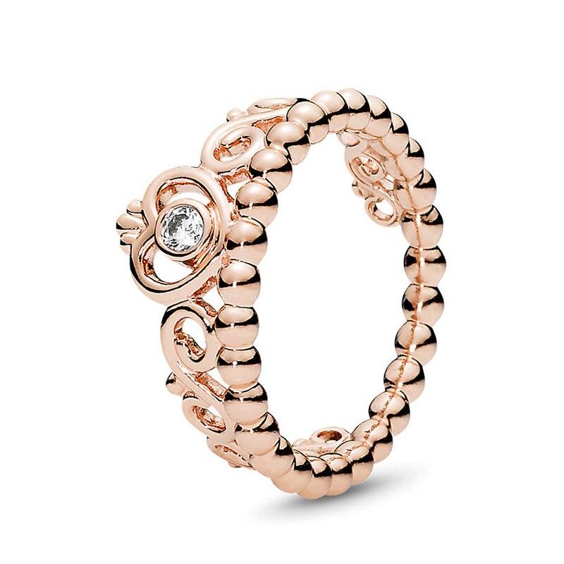 Кольцо на палец в форме сердечко серебряного цвета для женщин, европейская оригинальная Корона, изящные кольца на палец, свадебные украшения, 50 стилей, Прямая поставка - Цвет основного камня: Rings 012