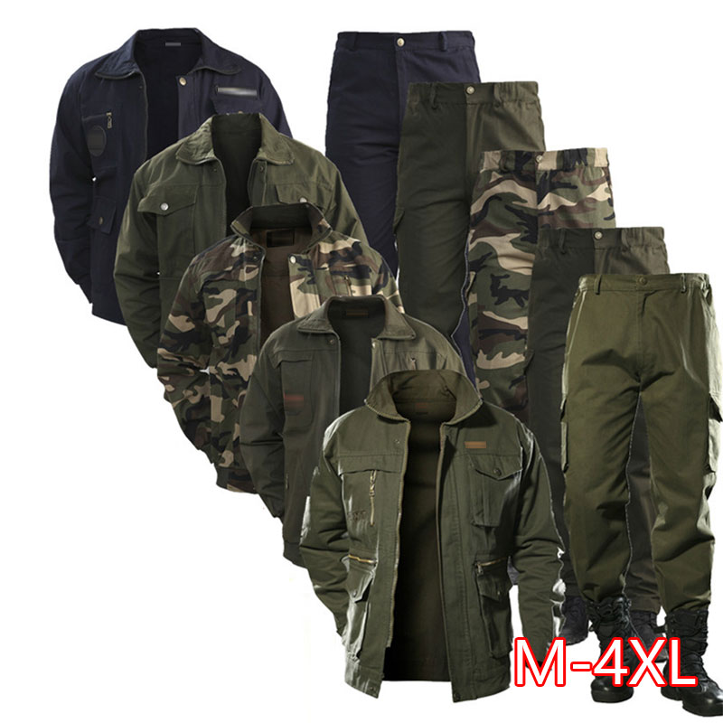 2020 Military Uniform Workwear Suit Male Wear Camouflage Clothing Men's Labor Site Tooling Us Tactical Military Uniform German 2