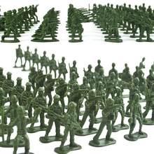 100 pçs mini clássico militar soldados figuras modelos playset desk decoração da criança do exército dos homens crianças brinquedo presente acessórios crianças brinquedo