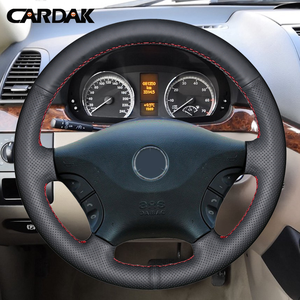 Image 2 - CARDAK DIY Hand stitched Black Artificial Leather Car Steering Wheel Cover for Mercedes Benz Viano W639 2006 2011 Vito 2010 2015
