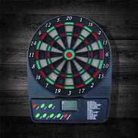 Powered Dartboards Soft Tip Dart Board with HD LCD Display and 3 Plastic Tip Darts Electronic Dartboard Battery