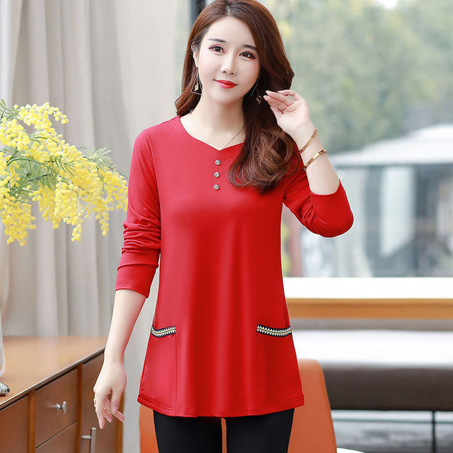 New Women's Spring Autumn Style Blouse Shirts Women's O-Neck Loose Button Embroidery Long Sleeve Temperament Casual Tops DD8332 4
