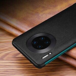 Image 5 - Lüks akıllı dokunmatik Mate30pro için hakiki deri Flip Case Huawei Mate 30 20 P30 Pro Mate20x Mate30 5G görüş pencere telefon kapak