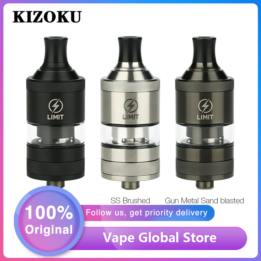 Original KIZOKU Limit MTL RTA 2ml Capacity 22mm RTA Atomizer Single Coil Building 510 Thread Vape Tank Vs Zeus X/ Dead Rabbit