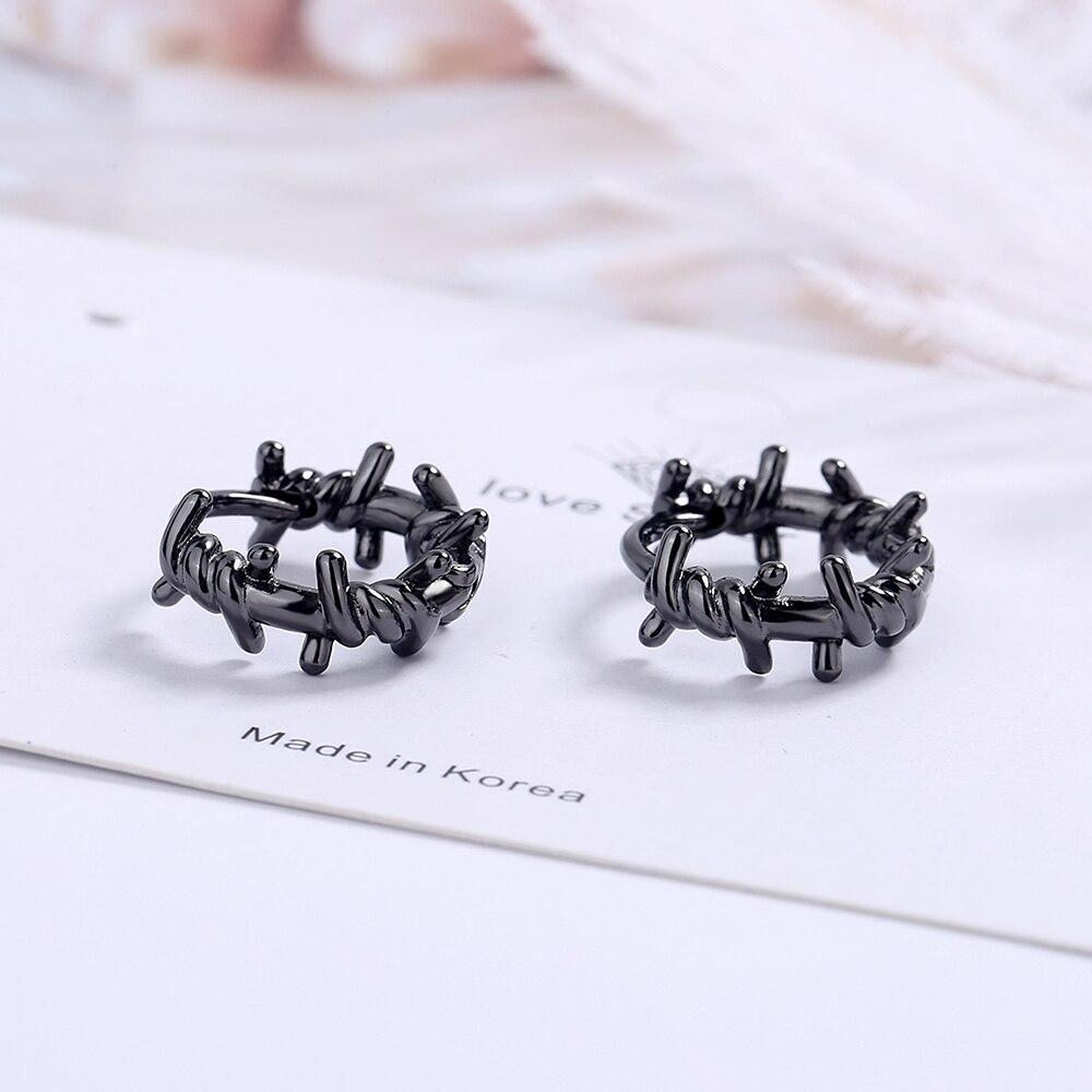 NEHZY 925 en argent Sterling nouvelle femme bijoux de mode de haute qualité noir Thai argent rond boucles d'oreilles Simple rétro boucles d'oreilles 6