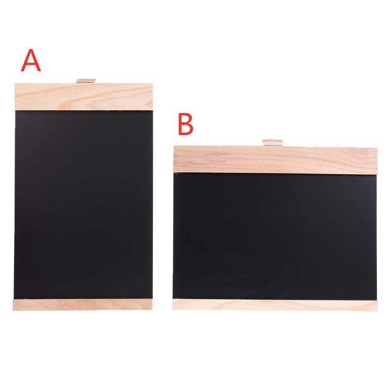 Desktop Message Blackboard Easel Chalkboard Kids Writing Advertising Board Bar