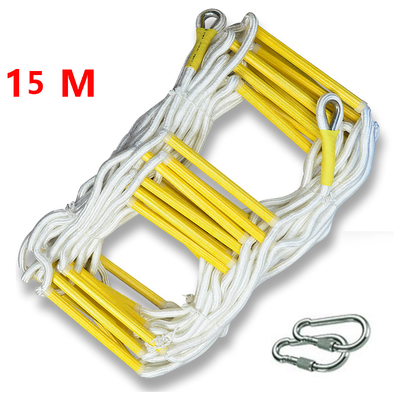15M Rescue Rope Ladder Escape Ladder Emergency Work Safety Response Fire Rescue Climbing High-rise Building Escape Ladder