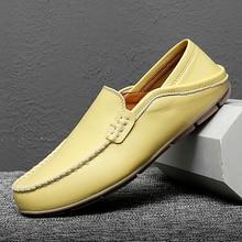 Fashionable Peas Shoes Small Fashion Leather Shoes Zapatos De Hombre Mens Designer Shoes Business Loafers Size 38-47 for Men *