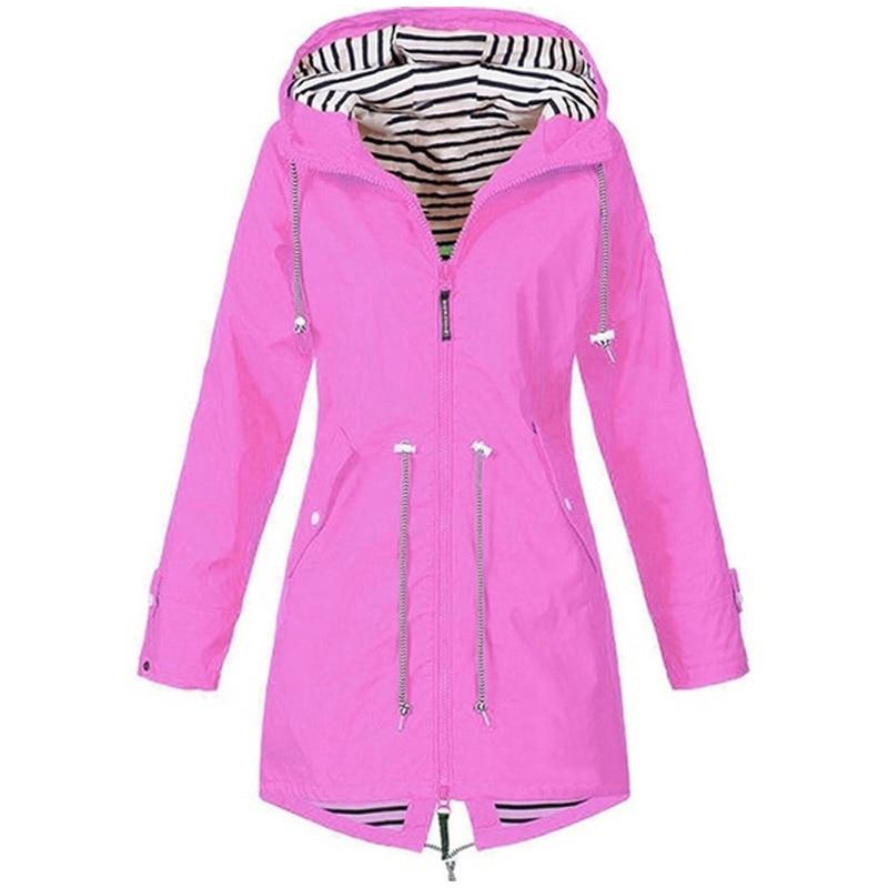 Hb4cba4da400c48d79e1daa545696820bN Women Jacket Coat Waterproof Windproof Transition Hooded Jackets Outdoor Hiking Clothes Outerwear Women's Lightweight Raincoat
