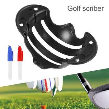 Ашық спорттық құралға арналған гольф шарикті қыстырғыш сызғыштың маркері үшін қалам үлгісін туралау белгілері