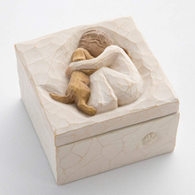Beautiful Sculpted Carved Hand-Painted Keepsake Box for Jewelry Friendship