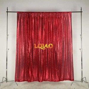 Image 2 - Lqiao 10x10FT Fuchsia Goud Zilver Sequin Achtergrond Trouwfoto Booth Achtergronden Voor Fotografie Studio/Party/Kerst Decor