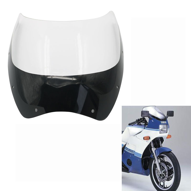 Motorcycle Windshield Windscreen Front Wind Shield screen Deflectors For <font><b>Yamaha</b></font> RD250 RZ350 RZ250 RZ <font><b>RD</b></font> <font><b>350</b></font> 250 RD350LC RD250LC image