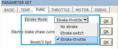 Ebrake-throttle