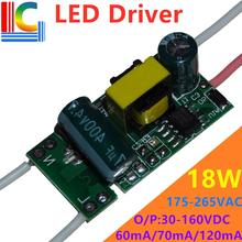 Bp2866b 9 w 12 w 15 w 18 w led driver 60ma 70ma 100ma 120ma fonte de alimentação 175 265 v transformador para t5 t8 led tubo diy led lâmpada tira