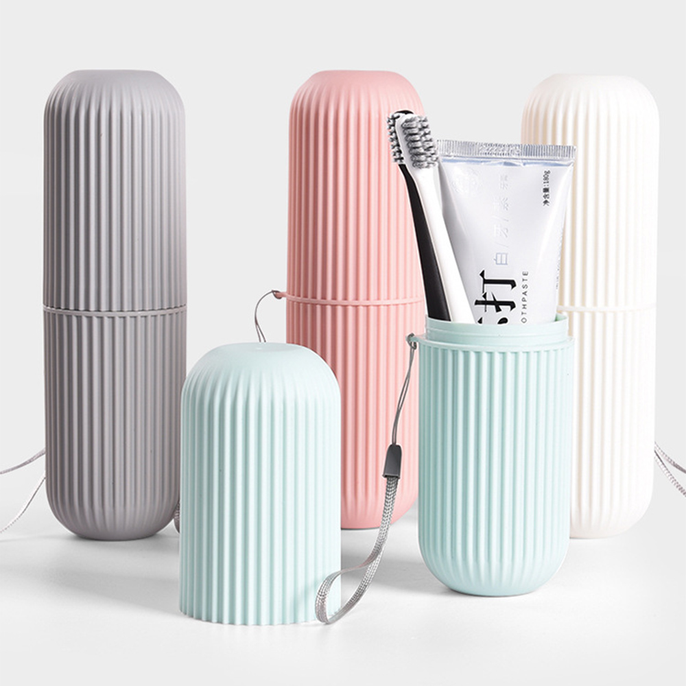 Travel Portable Toothbrush Toothpaste Holder Storage Case Box Organizer Household Storage Cup Outdoor Holder Bathroom Accessorie