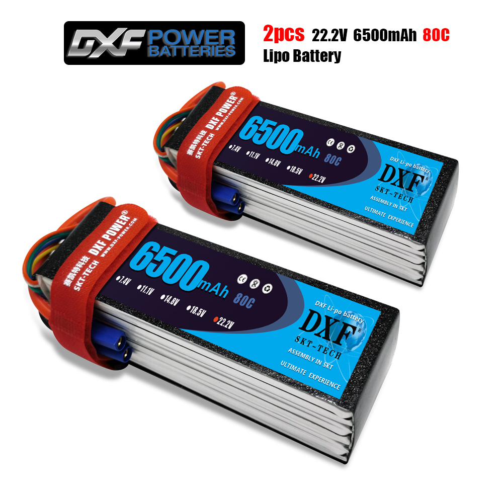 DXF 6S 22.2V 6500mah 80C-160C Lipo Battery 6S XT60 T Deans XT90 EC5 For FPV Drone Airplane Car Racing Truck Boat RC Parts