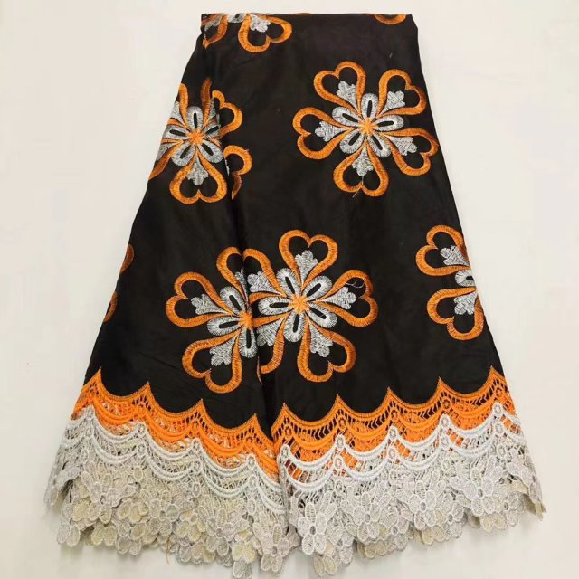 African Ankara Lace Wax Cord Lace Fabric For Dress High Quality Cotton Embroidery Dutch Print Nigerian Wax Pange Materials
