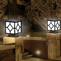 Outdoor LED Solar Power Pillar Light Lamp IP65 Waterproof For Villa Courtyard Wall Fence