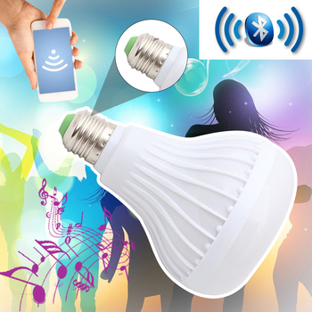 WiFi Smart RGB E27 Bulb Bluetooth Audio Speakers Lamp Dimmable LED Wireless Music Bulb Light Color Changing via WiFi App Control wireless wifi control smart light bulb e27 base type studio and exhibition lighting remote control light bulb app control led