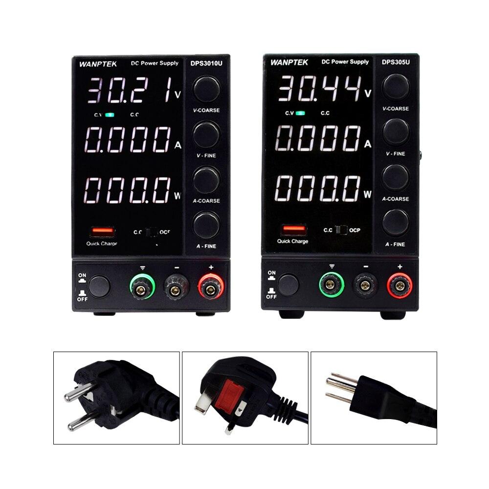 Wanptek DPS3010U 305U 605U commutation alimentation cc trois fenêtre 4 chiffres affichage 30V 10A 0.01V 0.001A AC 230/115 50/60Hz