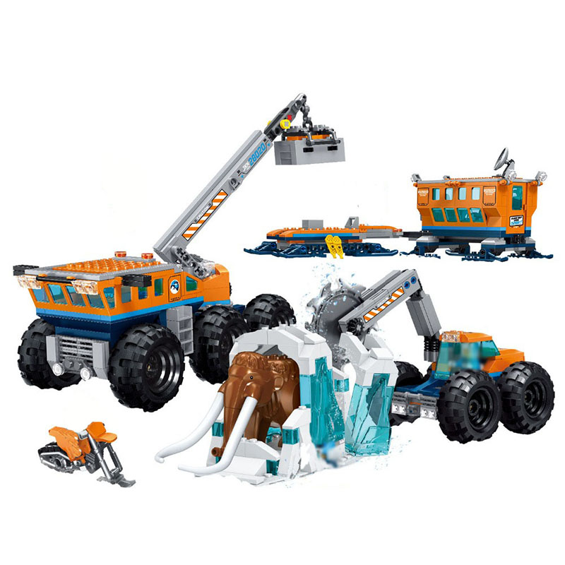 New City Arctic Exploration Compatible Arctic City 60195 Model Building Block Bricks Toys Children Gifts Christmas 28020