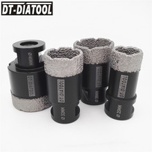 цена на DT-DIATOOL 4pcs M14 Thread Dry Diamond Drilling Core Bits Hole Saw for Ceramic Tile Drill Bits Granite Marble Drilling Bits