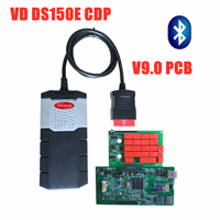 3pc/lot free ship by DHL vd ds150e cdp V9.0 green pcb with bluetooth 2016R0 keygen scanner for delphis obd2 obdii cars trucks