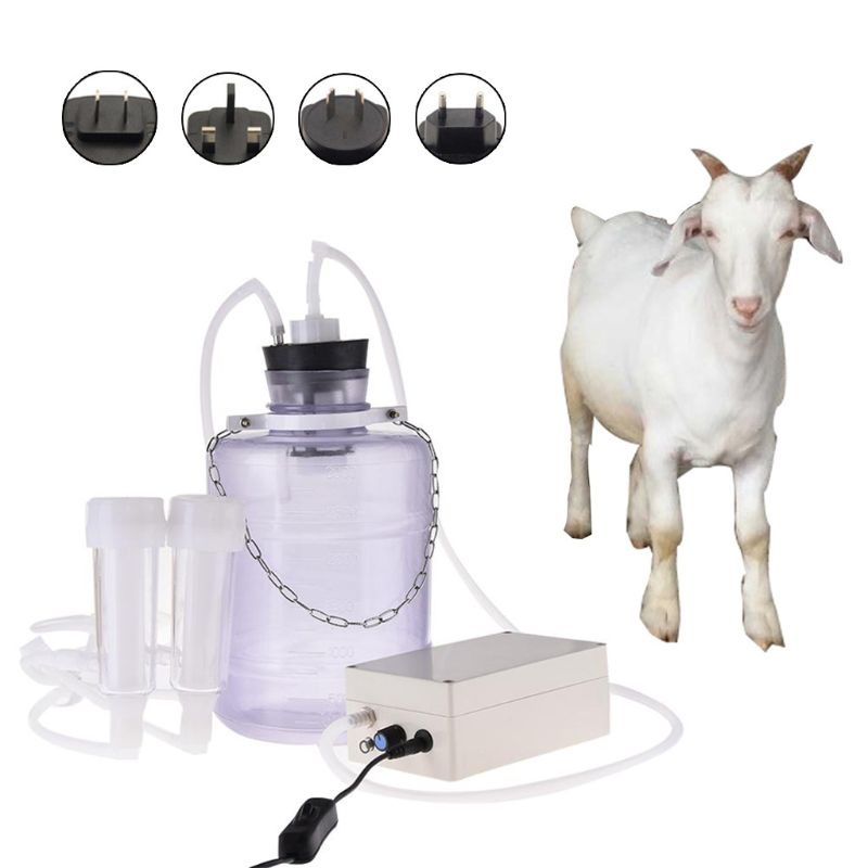Goat Milker Machine Electric Portable Cow Sheep Milking Machine Manual Pump