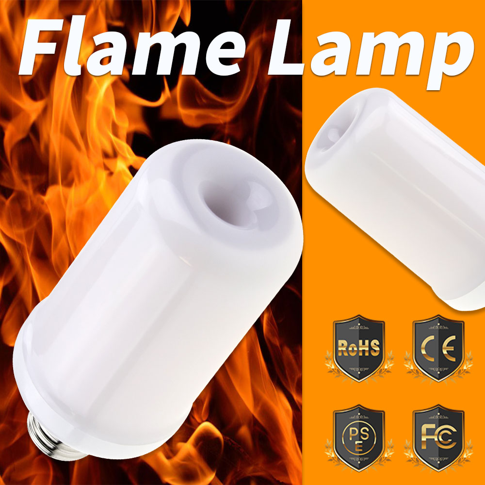 Led 12V Lamp Flame LED Bulb 220V E27 Effect 110V E14 Fire Light E26 Flickering Emulation Decor 2835