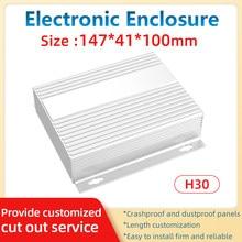 Fabricação elétrica enclosrue personalizado caixa preta batterie perfis de extrusão chassi h30a 147*41