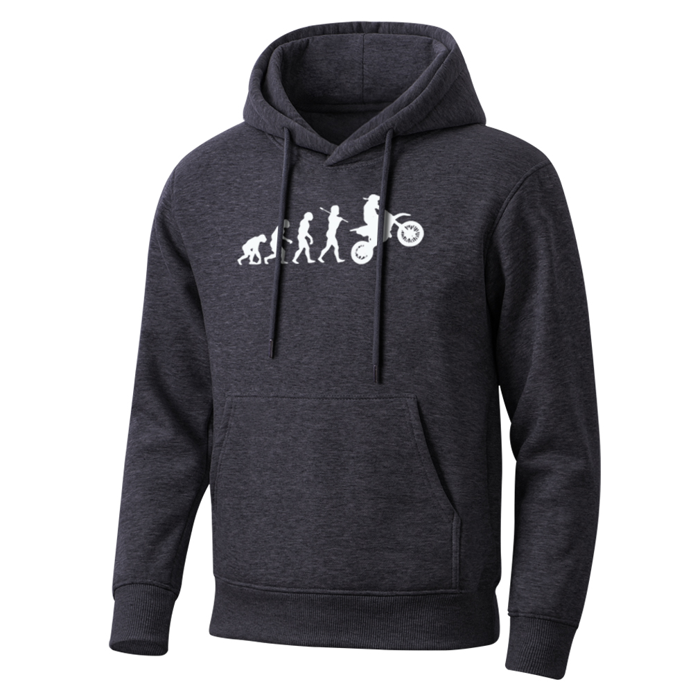 Funny Cartoon Dirt Bike Evolution Men Hoodie 2020 Spring Autumn Hip Hop Sweatshirt Mens Leisure Men'S Hoodies Hot Streetwear