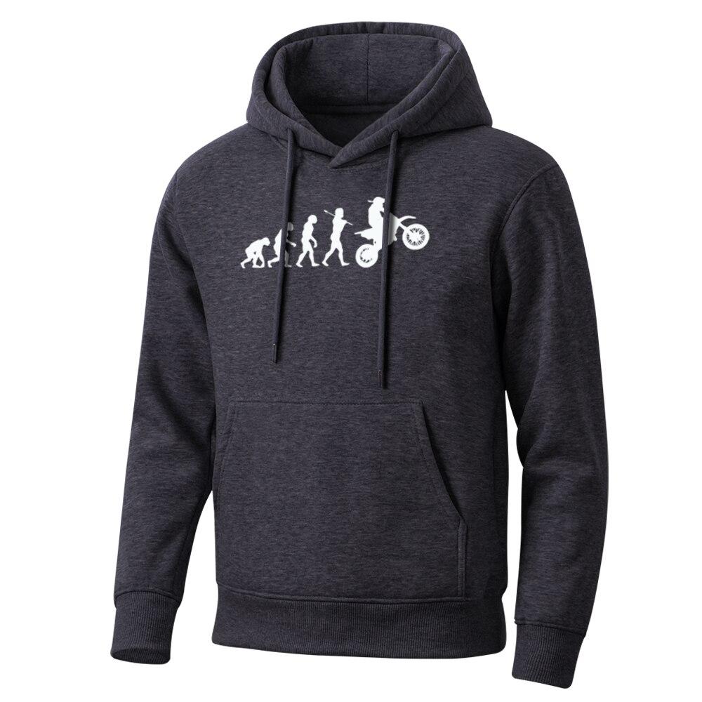 Funny Cartoon Dirt Bike Evolution Men Hoodie 2020 Spring Autumn Hip Hop Sweatshirt Mens Leisure Men'S Hoodies Hot Streetwear
