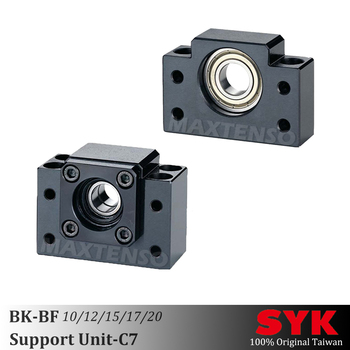 SYK Support Unit Set Professional BK10 BK12 BK15 BK17 BK20 and BF10 BF12 BF15 BF17 BF20 for ball screw BKBF one set CNC Taiwan