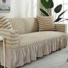 Sofa-Cover Living-Room-Decor Stretch Elastic Non-Slip European with Skirt for 1pcs