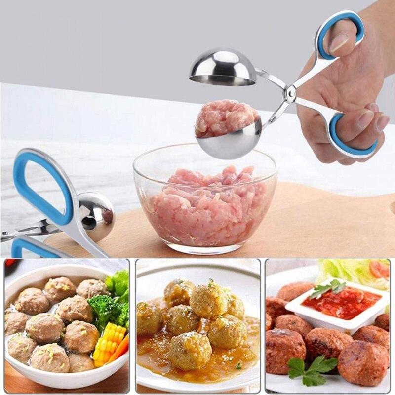 Boulettes de viande pince Non collante boulettes de riz fabricant pince moule à viande outil de cuisine Gadgets accessoires