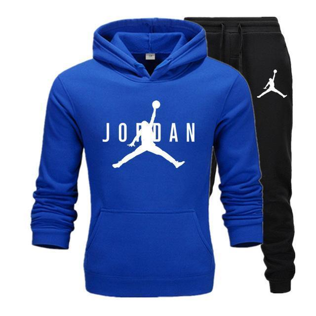 Brand Jordan Clothing Men s Casual Sweatshirts Pullover Men tracksuit Hoodies Two Piece Pants Sport Shirts Autumn Winter Set