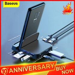 Baseus USB סוג C HUB תחנת עגינה עבור Samsung S10 S9 דקס כרית תחנת USB-C כדי HDMI Dock כוח מתאם עבור Huawei P30 P20 פרו
