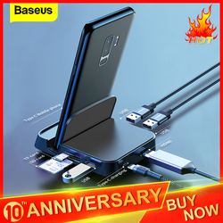 Baseus hub usb tipo c con estación de acoplamiento para Samsung S10 S9 Dex Pad estación USB-C a HDMI Dock adaptador de poder para Huawei P30 P20 Pro