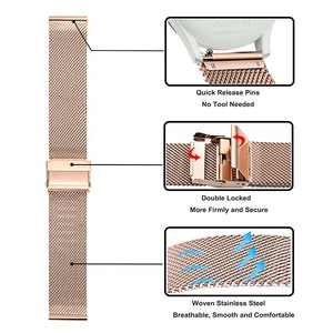 Image 3 - Milanese Stainless Steel Watchband for Garmin Vivomove HR/3/3S/Vivoactive 4/4S/3/Venu/Luxe/Style Quick Release Watch Band Strap