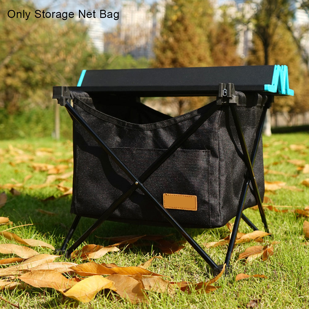Large Capacity Outdoor Camping Storage Net Bag Oxford Cloth For Picnic Accessories Kitchen Folding Table Mesh Invisible Pocket
