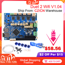 Cloned Duet 2 Wifi V1.04 Control Board Duetwifi 32Bit Duet2 PanelDue Touch Screen 3D Printer Parts CNC Ender 3 Pro VS Duex5
