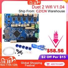 Клонированная плата управления Duet 2 Wifi V1.04 Duetwifi 32 бит Duet2 PanelDue сенсорный экран Запчасти для 3D принтера CNC Ender 3 Pro VS Duex5