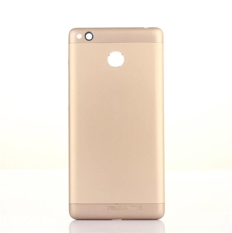 3Pro Original Housing For Xiaomi Redmi 3S 3 Pro Battery Cover Repair Replace Back Door Phone Rear Case + Logo Button Camera Lens