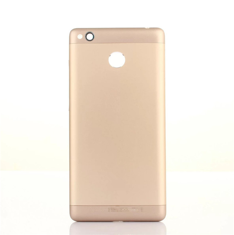 3Pro Original Housing For Xiaomi <font><b>Redmi</b></font> <font><b>3S</b></font> 3 Pro <font><b>Battery</b></font> <font><b>Cover</b></font> Repair Replace Back Door Phone Rear Case + Logo Button Camera Lens image
