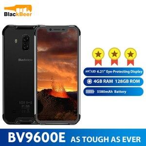 Мобильный телефон Blackview BV9600E, AMOLED экран 6,21 дюйма, Helio P70, Android 9,0, водонепроницаемый прочный смартфон, 4 Гб ОЗУ 128 Гб ПЗУ, сотовый телефон 5580 мАч