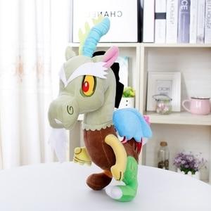 "Image 2 - Unicorn מחלוקת חיות פרווה סוס בפלאש בובת ילדי צעצועי מתנה גדולה 12 ""30 CM"