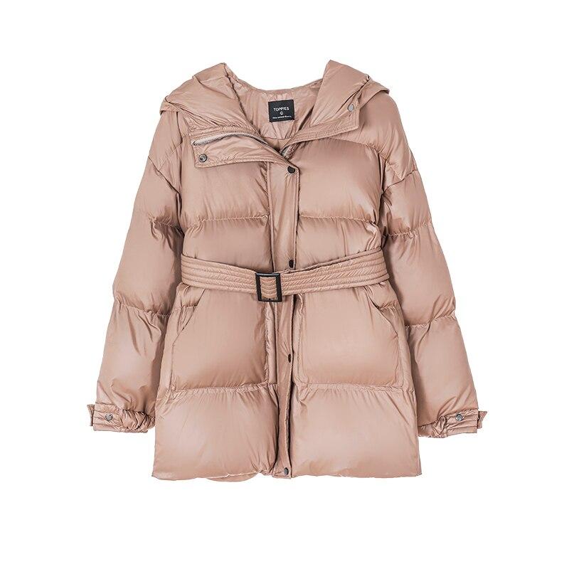 Toppies Winter Hooded Puffer Jacket Coat Women Parkas belt jacket oversized outwear women clothing 2020