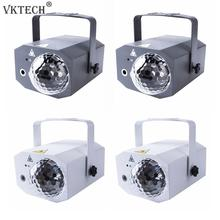 16 wzory Disco światła laserowe USB RGB projektor LED DJ taniec etap piłka oświetlenie pokaż dla strona główna KTV dekoracji ue/US wtyczka