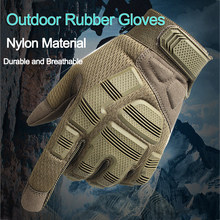 Tactical Gloves Camo Rubber Army Military Combat Airsoft Bicycle Outdoor Hiking Shooting Paintball Hunting Full Finger Glove(China)